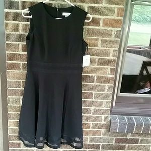 Calvin Klein Black Midi a line Dress